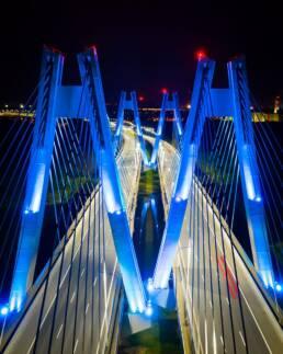 Kaktus.studio - Dron - Kraków, most na Wiśle nocą 1