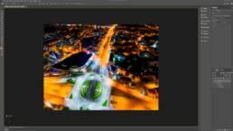 Zaimportowana panorama w przestrzeni roboczej 3D